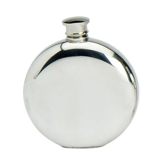 English Pewter Round Flask