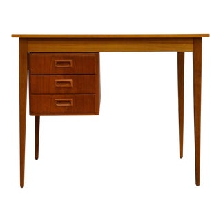 Mid-Century Modern Teak Adjustable Drawer Desk
