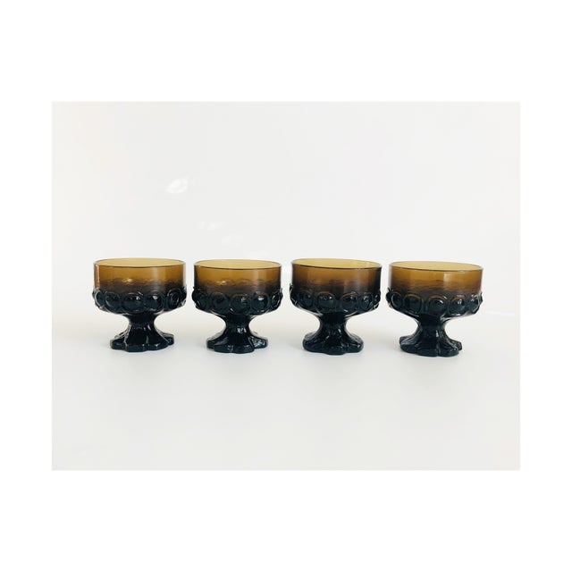 Vintage 1970s Tiffin Franciscan Madeira Coupe Glasses - Set of 4 For Sale In San Francisco - Image 6 of 6