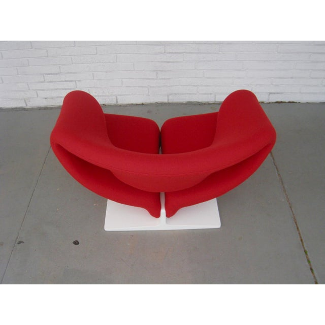 1960s 1960s Pop Art Pierre Paulin Red Wool Ribbon Chair For Sale - Image 5 of 13
