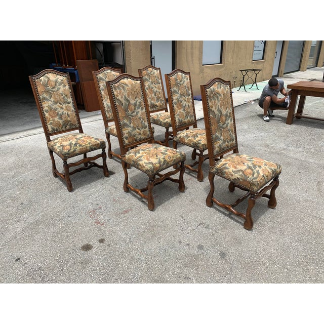 1900s French Country Louis XIII Style Os De Mouton Dining Chairs - Set of 6 For Sale - Image 4 of 10