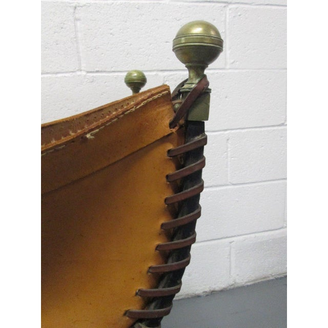 Italian Curule Savonarola Chair For Sale In New York - Image 6 of 9