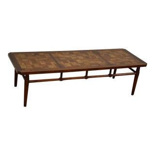 Brutalist Style Walnut Coffee Table by Lane