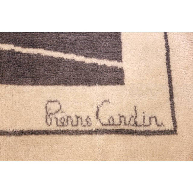 Pierre Cardin Mid-Century Square Size Rug by Pierre Cardin - 8′ × 8′ For Sale - Image 4 of 7