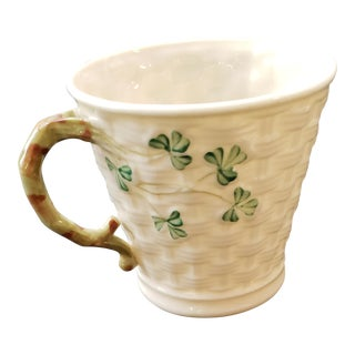 Beleek Basketweave Tea Cup