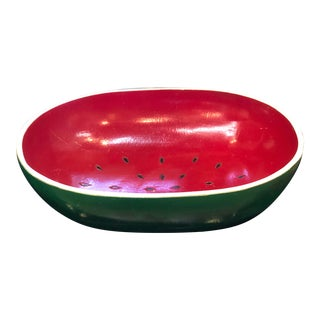 Vintage Wooden Watermelon Bowl For Sale