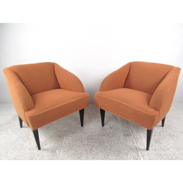 Lacquer Vintage Modern Club Chairs - a Pair For Sale - Image 7 of 7