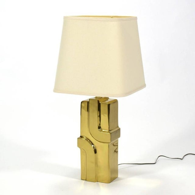 1970s Brass Table Lamp For Sale - Image 9 of 9
