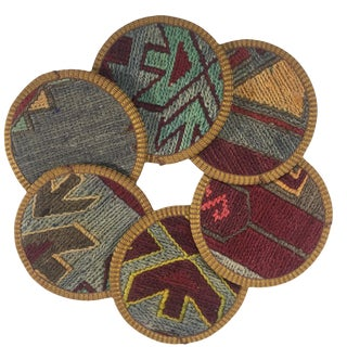 Kilim Coasters Set of 6 | Kazandibi For Sale