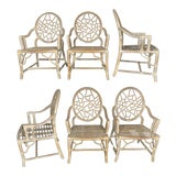 Image of Rattan Cracked Ice Dining Chairs in the Manner of McGuire, Set of 6 For Sale