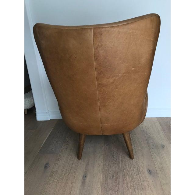 Erik West Elm Leather Wingback Chair Chairish