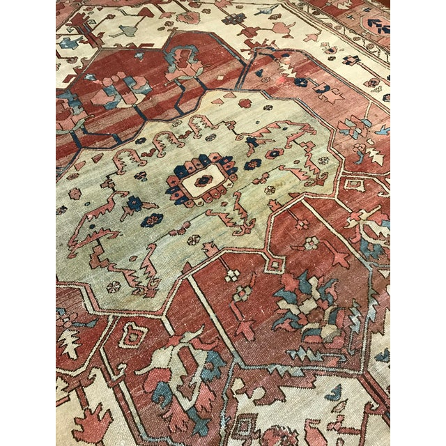 Antique Persian Serapi Rug For Sale In Los Angeles - Image 6 of 6