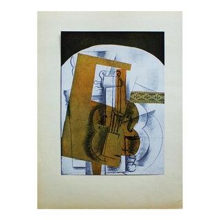 """1940s Georges Braque, """"La Guitare"""" Original Period Swiss Lithograph For Sale"""