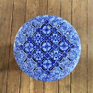 19th Century Antique Glazed Terracotta Japanese Blue & White Stand Preview