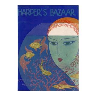 """Harper's Bazaar, June 1931"" Original Vintage Fashion Magazine Cover For Sale"