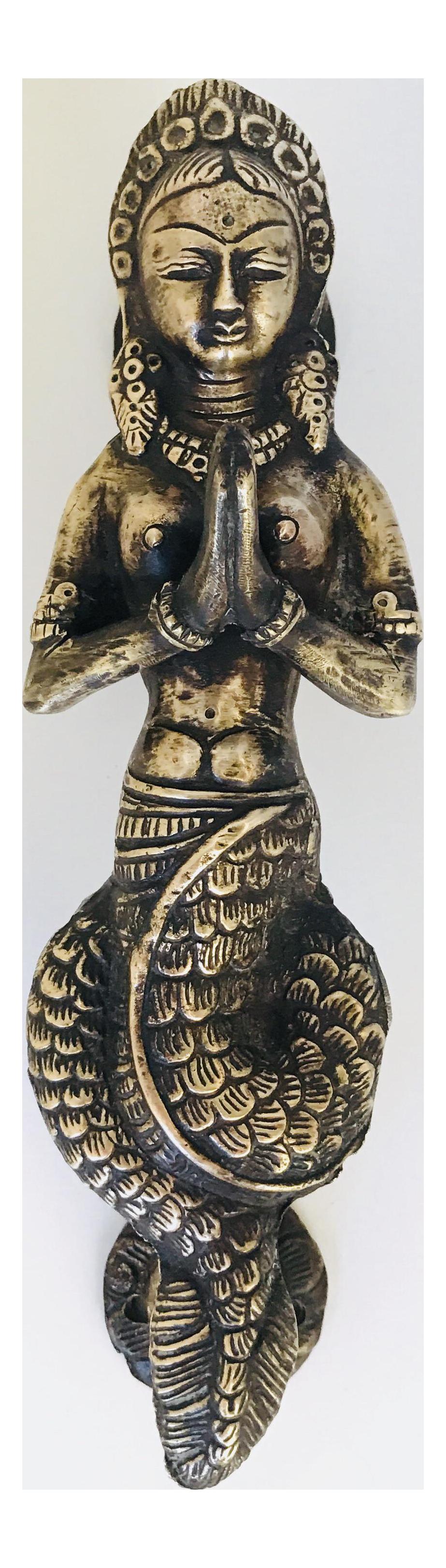 Antique Indian Mermaid Door Handle