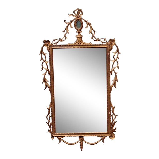 Antique Ornate Gold Gilt Wall Mirror Scrolling Wood Frame | Chairish
