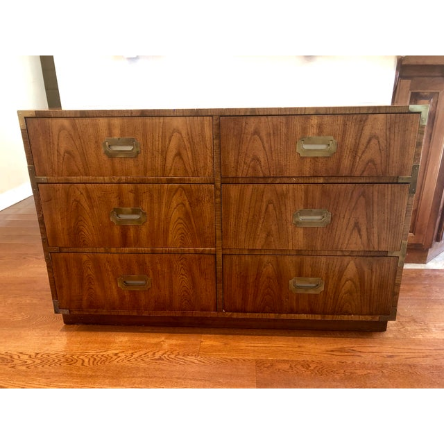 Dixie Campaigner Six Drawer Dresser For Sale - Image 9 of 9