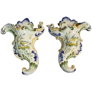 19th Century Formantreaux Wall Pockets- a Pair