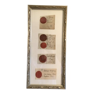 18th/19th Century Antique European Plaster Intaglios, Framed For Sale