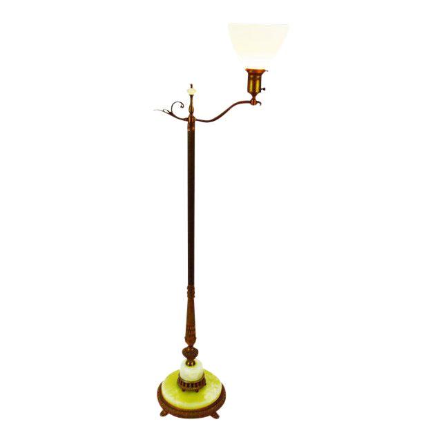 Art Deco Mutual Sunset Brass And Onyx Floor Lamp Chairish