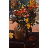 """Image of 1950s Paul Gauguin, First Edition Lithograph """"Still Life With Flowers"""" For Sale"""