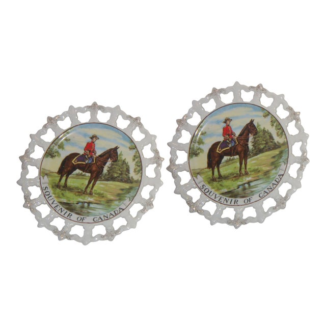Royal Canada Hand-Painted Mounties Plates - A Pair - Image 1 of 8