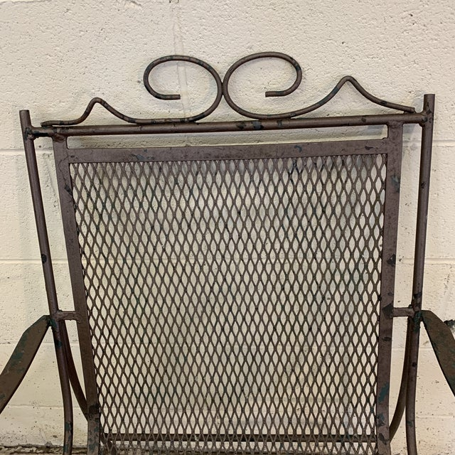 Vintage Iron Patio Chairs - a Pair For Sale - Image 10 of 11