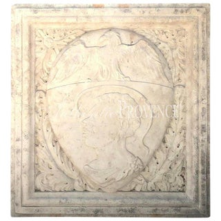 Early 19th Century Italian Biancone Marble Crest For Sale