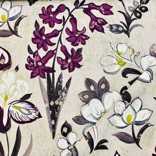 Boho Chic Designers Guild Lotus Flower Linen Designer Fabric by the Yard Preview