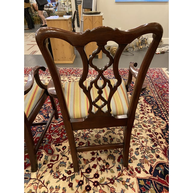 Wood 20th Century Henkel Harris Armchairs - a Pair For Sale - Image 7 of 10