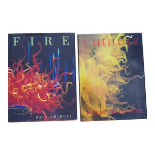 "2006 ""Fire"" by Dale Chihuly (Signed) & 1993 ""Form From Fire"" Books - Two Volumes For Sale"