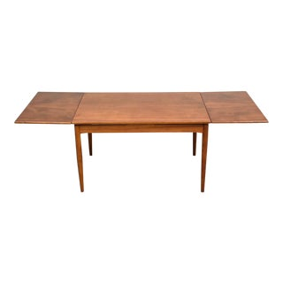 French Walnut Draw Leaf Dining Table For Sale