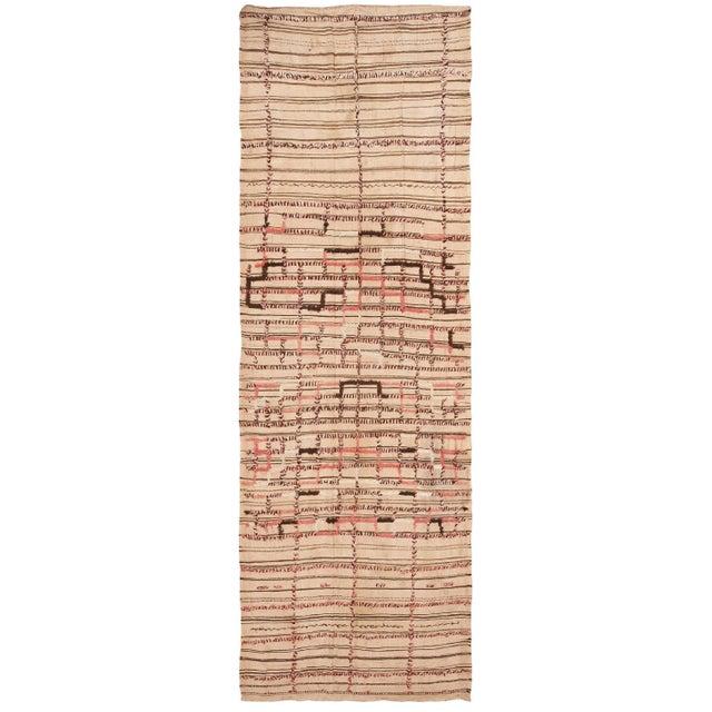Textile Vintage Moroccan Flat-Weave Kilim Rug - 5′3″ × 14′10″ For Sale - Image 7 of 7