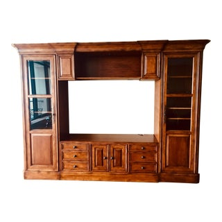 Sligh Antique Cherry Finish Entertainment Center