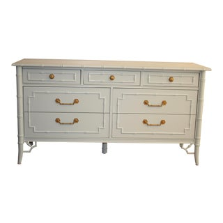Thomasville Allegro Faux Bamboo Chinoiserie Fretwork Dresser For Sale