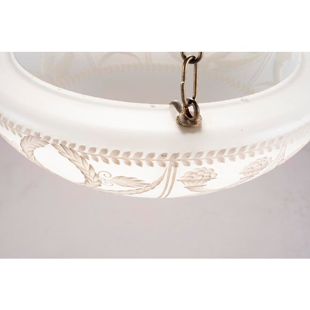 1920s Hand Painted Opaline Fixture From Paris Dior Boutique For Sale - Image 11 of 12
