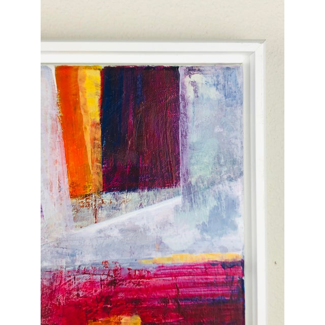 Early 21st Century Contemporary Abstract Acrylic Painting, Framed For Sale - Image 5 of 7