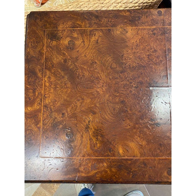 Wood Burl Veneered All Sides 4-Drawer Chest For Sale - Image 7 of 11
