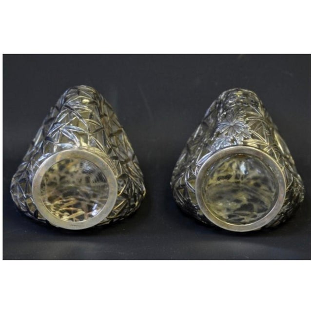 Silver Overlay Pinch Decanters - A Pair - Image 5 of 7