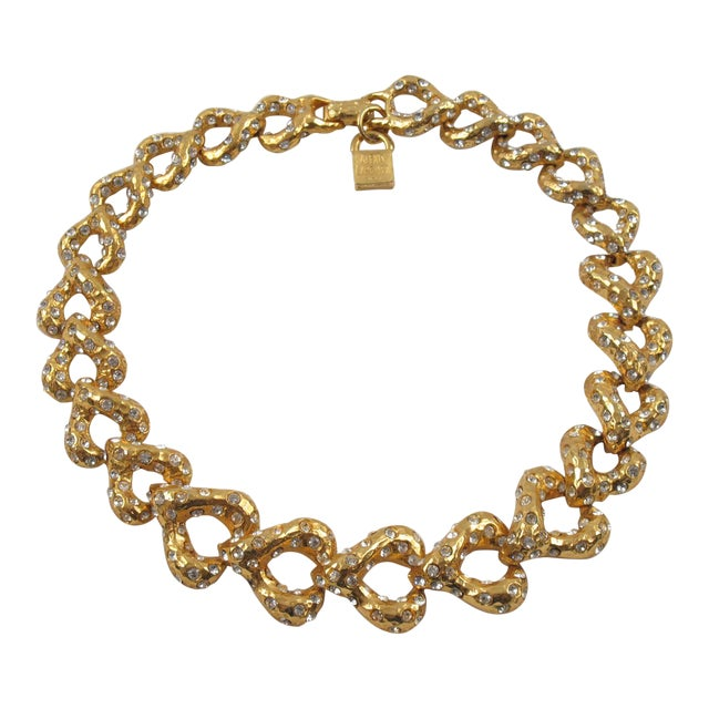 French Designer Alexis Lahellec Paris Signed Jeweled Choker Necklace For Sale
