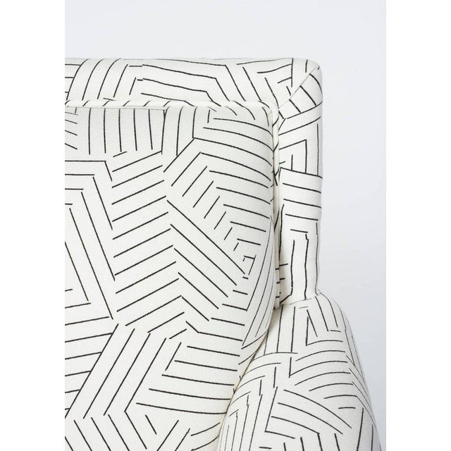 Schumacher Jansen Deconstructed Stripe Maplewood-Legged Sock Arm Chair For Sale In New York - Image 6 of 9