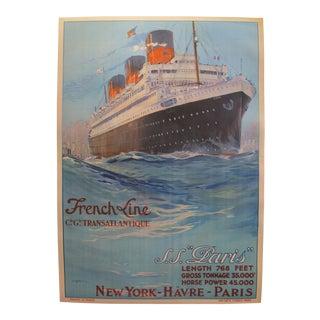 Original French Vintage Art Deco Travel Poster, Neiderbronn Les Bains For Sale