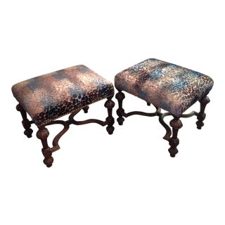 Pair of Fine English Benches For Sale