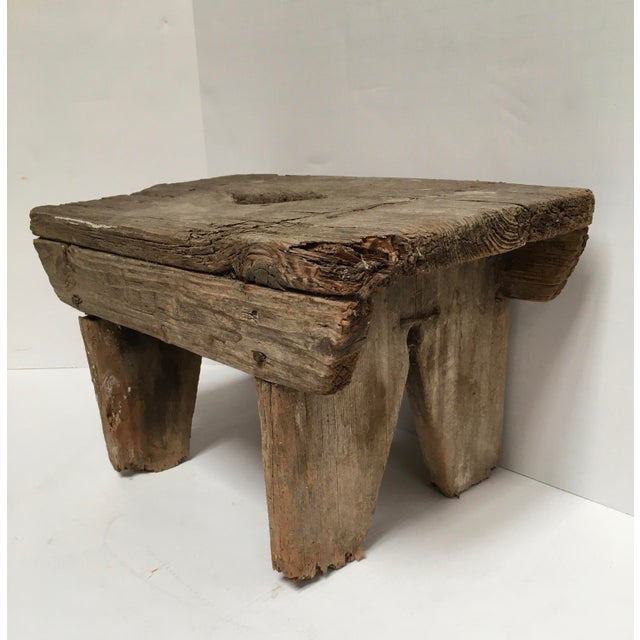 1930s Antique Primitive Handcrafted Farm Stool For Sale - Image 5 of 11