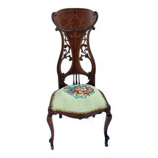 Art Nouveau Boudoir Chair For Sale