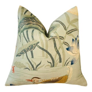 Schumacher Lotus Garden Pillow Cover For Sale