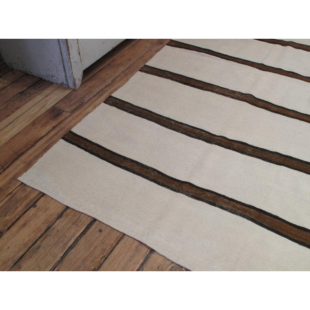 Islamic Banded Kilim Wide Runner For Sale - Image 3 of 7
