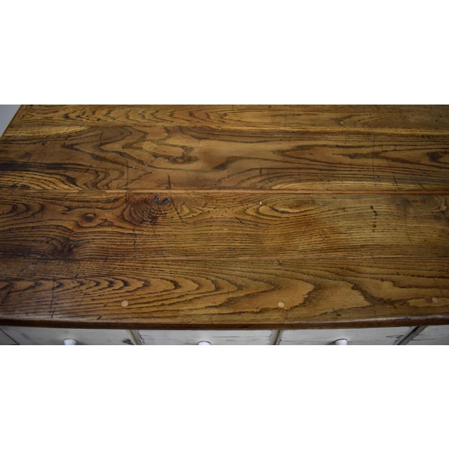 Massive Vintage Painted Pine and Oak Store Counter For Sale - Image 11 of 13