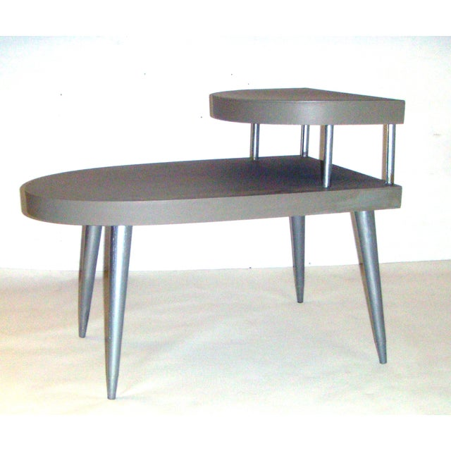 Mid-Century Two-Tiered Side Tables - A Pair - Image 3 of 8